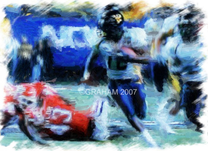 West Virginia Sugar Bowl Steve Slaton Print Giclee Art