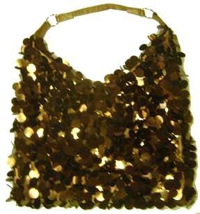 Lot of 6 - So Sexy Bronze Metallic Sequined Handbags
