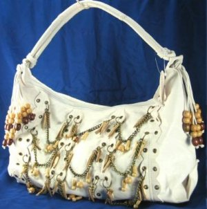So Sexy Chain & Wood Bead HandBag