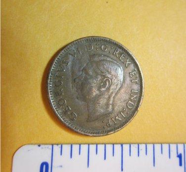 Canada 1944 1 Cent Copper Canadian Penny GEORGVIS VI D G REX ET IMP
