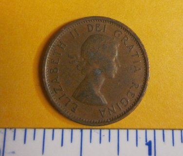 Canada 1957 1 Cent Copper One Canadian Penny ELIZABETH II
