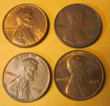 1976 Lincoln Memorial Penny 5 Pieces #6