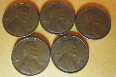 1976 Lincoln Memorial Penny 5 Pieces #7