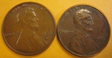1976D Lincoln Memorial Penny 2 Pieces #7