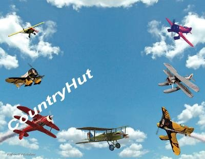 Airplanes - PERSONALIZED 1 Name Meaning Print