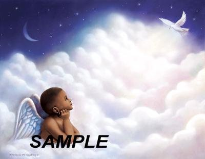 Angel Boy 2 - PERSONALIZED 1 Name Meaning Print