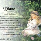 Angel Blessing #2  - PERSONALIZED 1 Name Meaning Print  - no US s/h fee