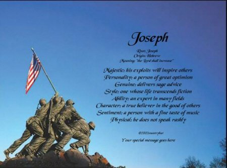 Marines #2- PERSONALIZED 1 Name Meaning Print   - no US s/h fee