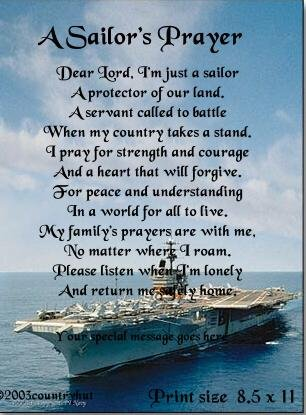NAVY #1- SAILOR'S PRAYER poem print - no US s/h fee
