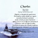 NAVY #2 - PERSONALIZED 1 Name Meaning Print   - no US s/h fee
