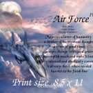 AIR FORCE #4- PERSONALIZED 1 Name Meaning Print   - no US s/h fee
