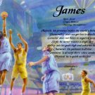 BASKETBALL #1 - PERSONALIZED 1 Name Meaning Print  - no US s/h fee
