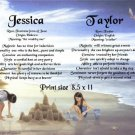 Little GIRLS & SAND CASTLES - PERSONALIZED 1 Name Meaning Print  - no US s/h fee