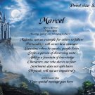 MYSTIC CASTLE #2 - PERSONALIZED 1 Name Meaning Print  - no US s/h fee