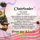 CHEERLEADERS #2 - PERSONALIZED 1 Name Meaning Print  - no US s/h fee