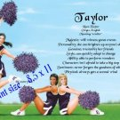 CHEERLEADERS #3 - PERSONALIZED 1 Name Meaning Print  - no US s/h fee