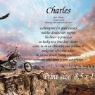 CHOPPER,  Motorcycle - PERSONALIZED 1 Name Meaning Print  - no US s/h fee