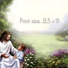 CHRIST with BOY - PERSONALIZED 1 Name Meaning Print  - no US s/h fee
