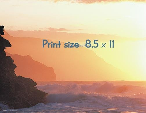 COASTAL SUNSET - PERSONALIZED 1 Name Meaning Print  - no US s/h fee