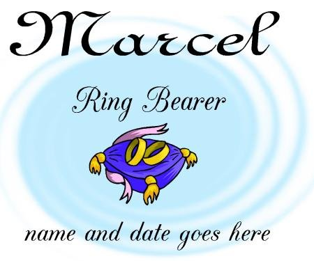 T-shirt, RING BEARER, wedding party. personalize, Bride, Groom, Wedding Date