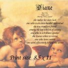 RAPHAEL ANGELS - PERSONALIZED 1 Name Meaning Print  - no US s/h fee