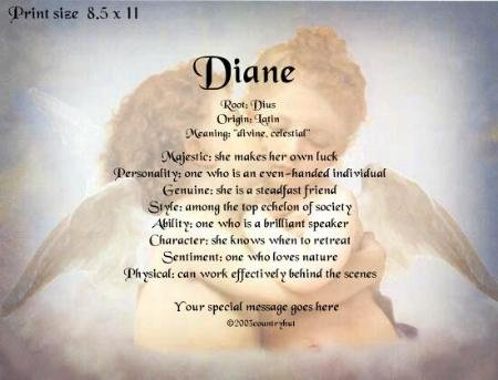 KISSING ANGELS - PERSONALIZED 1 OR 2 Name Meaning Print  - no US s/h fee