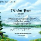 DEER #2, Buck  - PERSONALIZED 1 Name Meaning Print  - no US s/h fee