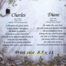 SERENITY FOREST - PERSONALIZED 1 or 2 Name Meaning Print  - no US s/h fee