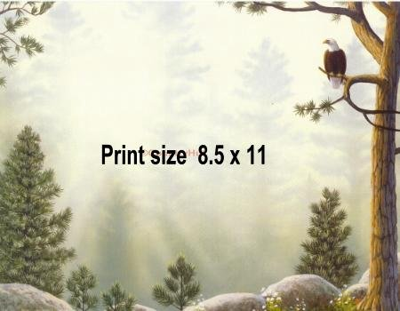 SERENITY FOREST #2 - PERSONALIZED 1 Name Meaning Print  - no US s/h fee
