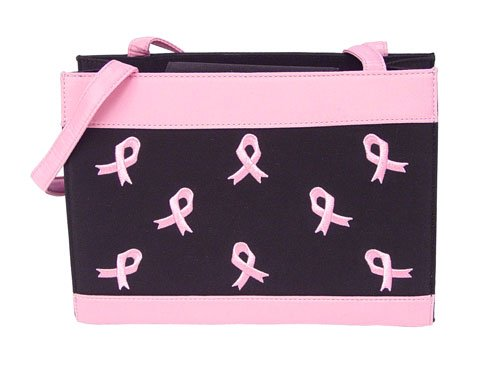 PINK RIBBON Quilted handbag, Breast Cancer purse #3