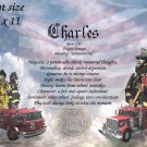 FIREFIGHTER  - PERSONALIZED 1 Name Meaning Print  - no US s/h fee