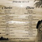 Couple EMBRACE #4, Tropical Beach - PERSONALIZED 1 or 2 Name Meaning Print  - no US s/h fee