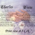 WEDDING HANDS - PERSONALIZED 1 or 2 Name Meaning Print  - no US s/h fee