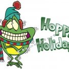 T-shirt - HOPPY HOLIDAYS, winter Frog ~ (yth xSm to Adult xLarge)