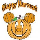 T-shirt, HAPPY HARVEST Pumpkin Face -w- Pumpkin Ears  ~ (Adult 2xLarge to Adult 6xLarge)