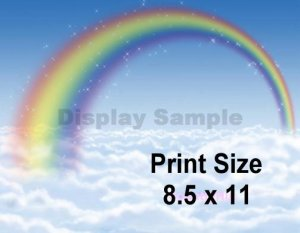 MISTY RAINBOW - PERSONALIZED 1 or 2  Name Meaning Print  - no US s/h fee