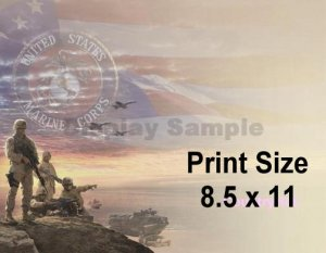 ALWAYS a MARINE - PERSONALIZED 1 Name Meaning Print  - no US s/h fee