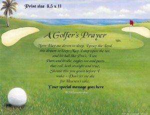 GOLFERS PRAYER - Print  - no US s/h fee