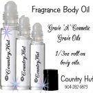 ROMANCE, Body Fragrance Oils, Perfume oils, 1/3 oz roll on bottle