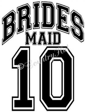 BRIDESMAID 14 - 2014  ~ (Adult 2xLarge to Adult 6xLarge) ~ WEDDING, marriage