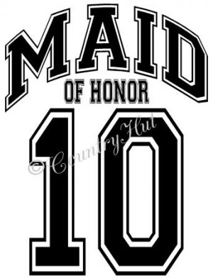 MAID OF HONOR 14 - 2014  ~ (Adult 2xLarge to Adult 6xLarge) ~ WEDDING, marriage