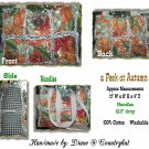 a Peek at AUTUMN LEAVES, Tote rag Handbag Purse Quilted - Handmade