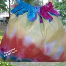 TYE DYE  - Gift Bag - Draw string handbag - multi purpose handbag, cosmetic bag