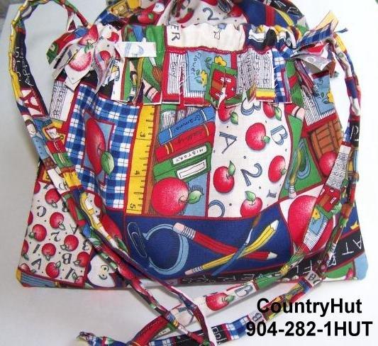 TEACHER Gift Bag - Draw string handbag - multi purpose handbag, cosmetic bag