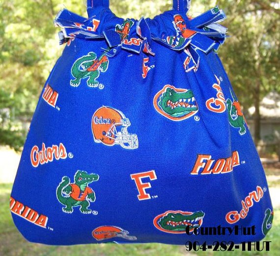 University of Florida - Gators - Gift Bag - Drawstring handbag - multi purpose handbag, cosmetic bag