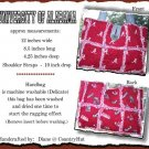 University of ALABAMA - Tote rag Handbag Purse Quilted