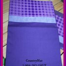 PURPLE, and more PURPLE with polka dots , 1 set of 2 Pillowcases - standard size