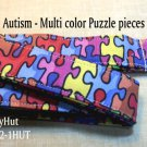 Autism Awareness - Multi color puzzle pieces - Key Holder - Handmade Lanyard - Lanyards
