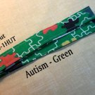 Autism Awareness - Green - Key Holder - Handmade Lanyard - Lanyards