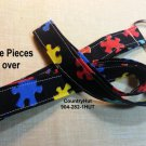 Autism Awareness - Black - Key Holder - Handmade Lanyard - Lanyards